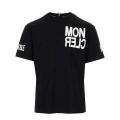 Moncler/蒙克莱 20年秋冬 时尚百搭 男性 logo 男士短袖T恤 8C705208390T图片