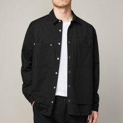 【Designer Menwear】Senza Cieco/Senza Cieco 男士衬衫>男士长袖衬衫 新款男装秋季纯色长袖衬衫翻领图片