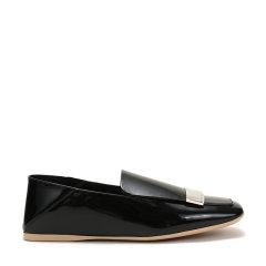 【现货秒发】Sergio Rossi/塞乔·罗西 女士皮革可踩脚单鞋平底鞋 A83120 MVIV01图片