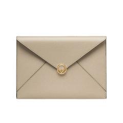 【包税】FENDI/芬迪 经典款 大号小牛皮金色FF徽标按扣 手拿包 (2色可选)图片