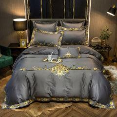 Fantti/芬缇 床上用品100支长绒棉奢华刺绣四件套被罩床罩被单枕套-卡洛奇图片