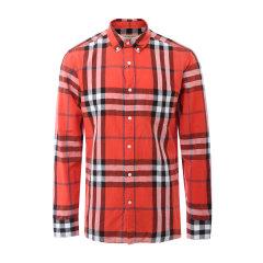 BURBERRY/博柏利 burberry服装 巴宝莉 衬衫 博柏利 格 衬衫 衬衣 男装 纯棉格纹男士长袖衬衫 蓝 灰 绿 紫 红  80032831图片