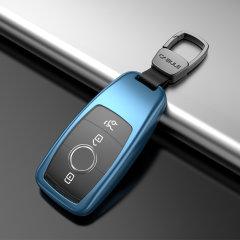 QUEES/乔氏 奔驰汽车钥匙套 适用于新E系E200L E300L E320L新S级S320L 按键全包钥匙壳 合金材质图片