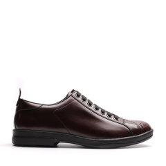 【新品】UROK男士真皮系带休闲鞋时尚百搭蛇纹男鞋图片