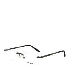 【可配镜片】MontBlanc/万宝龙 商务合金男款女款光学镜架长方形无框近视眼镜框眼镜架 MB0030O 59mm图片