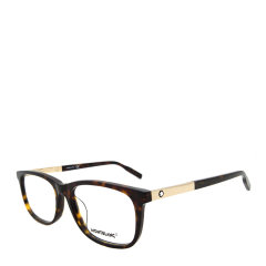 MontBlanc/万宝龙 商务 休闲 长方形 板材 全框 男女款 光学镜架 黑色 哈瓦那色 近视 眼镜框 眼镜架 MB0025OA 56mm MontBlanc 万宝龙图片