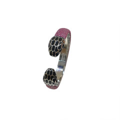 宝格丽手镯 经典珐琅蛇头扣珍珠鱼皮女士手镯手环 多种颜色可选图片