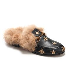 【2020秋冬新款】 DK UGG/DK UGG 女士乐福鞋 刺绣真皮女式乐福鞋 半包跟女式拖鞋图片