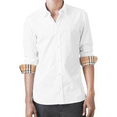 【大陆现货秒发】爆款主推 格纹内领长袖衬衫 BURBERRY/博柏利 巴宝莉  男装 衬衣 男士长袖衬衫图片
