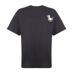 KENZO/高田贤三  女士时尚休闲宽松棉质战马印花圆领短袖T恤衫FA62TS9714SJ图片