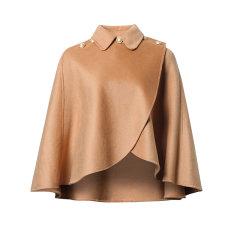 【DesignerWomenwear】Fate Flight/Fate Flight/女装>女士外套>女士大衣/斗篷外套翻领A摆不规则羊毛大衣图片