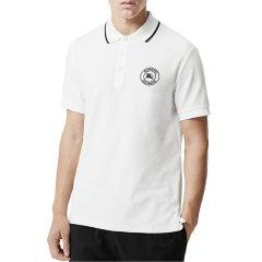 BURBERRY/博柏利 巴宝莉 burberry 男装 纯棉 翻领 短袖T恤  黑 白 男士短POLO 80059351图片