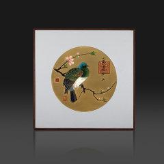 ZBR/朱炳仁·铜  精铜  宋徽宗-花鸟风月系列  非遗家居摆件装饰画图片