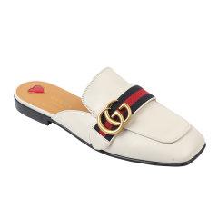 GUCCI/古驰 Princetown系列 女士牛皮双G穆勒鞋拖鞋平底鞋423694 DKHC0图片