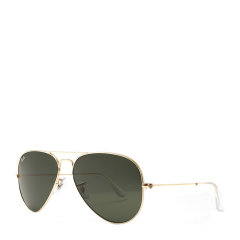 【SALE】Ray-Ban/雷朋 经典飞行员系列蛤蟆镜男女情侣款太阳镜金色枪色镜框绿色镜片墨镜眼镜 RB3025 58mm RayBan 雷朋图片