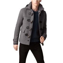 BURBERRY/博柏利  男士短款羊毛大衣  水牛角纽扣图片