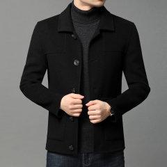 Senza Cieco/Senza Cieco 男士外套>男士大衣 秋冬季双面尼大衣男羊毛呢子男士短款图片