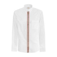 【大陆现货秒发】爆款主推 BURBERRY/博柏利 巴宝莉 白 衬衫 衬衣 专柜同款 格纹 男士长袖衬衫图片