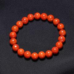 zhenyuhui/真玉汇 满色满肉 柿子红火焰纹南红手串 108颗珠串礼佛 送礼图片