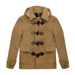 【海外奥莱直采】BURBERRY/博柏利  burberry 巴宝莉 多色 羊毛混纺牛角扣男士短款大衣 牛角扣大衣 男装 外套 39841911图片