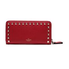 【现货秒发】Valentino/华伦天奴 女士皮质长款拉链钱包钱夹 SW2P0645BOL图片