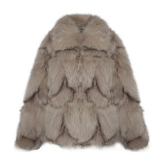 OZLANA AU/OZLANA AU 名媛风女士时尚加厚保暖短款外套 狐狸毛女士皮草外套AU203004图片