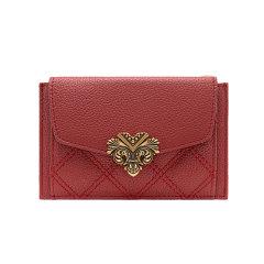 VH包包女新款VANESSA HOGAN/VANESSA HOGAN 牛皮小钱夹时尚短款多功能卡包ins小巧女式零钱包图片