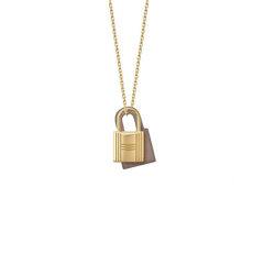 【包税】HERMES/爱马仕  女士 锁头 项链 新款 Kelly 项链 Gold黑金图片