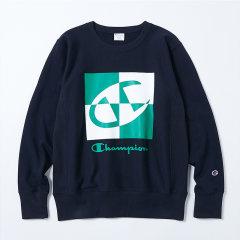 Champion冠军 日版 男女同款 拼色大C标 套头卫衣 C8-Q003图片