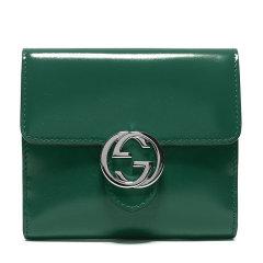 【包税】GUCCI/古驰  女士漆皮双G金属LOGO翻盖短款钱夹钱包卡卡包女包多色可选图片