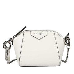 【包税包邮】Givenchy/纪梵希 女士黑色皮质拉链开合钥匙包挂饰单肩斜挎包 BB60D7B0XN-001BABY ANTIGONA饰链手袋图片