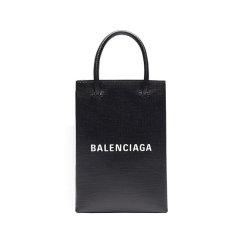 【20秋冬】Balenciaga/巴黎世家  女士灰色/黑色方形牛皮斜跨单肩包  593826-0AI2N图片