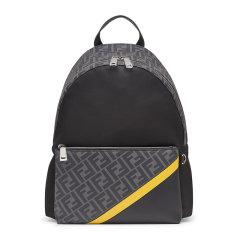 FENDI/芬迪 男士拼色尼龙双F图案印花拉链开合双肩包手提包旅行包背包男包 7VZ042-A9XT 多色可选图片