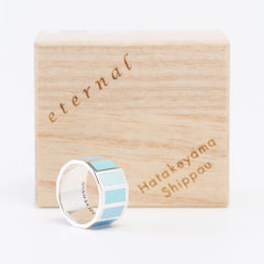 日本七宝烧 蓝色 戒指/指环 ETERNAL系列 匠人手作 日本制 获奖产品图片
