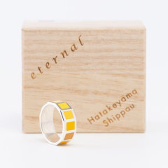 日本七宝烧 黄色 戒指/指环 ETERNAL系列 匠人手作 日本制 获奖产品图片