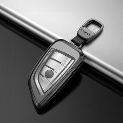 QUEES/乔氏 宝马汽车钥匙套 适用于刀锋1系X1X3X5X6新2系旅行5系7系 按键全包钥匙壳 合金材质图片