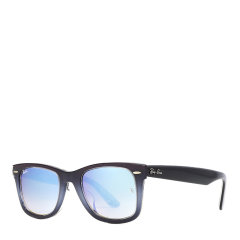 【SALE】Ray-Ban/雷朋 个性涂鸦镜框男女款太阳镜渐变反光镜片墨镜眼镜 RB2140F 52mm RayBan 雷朋图片