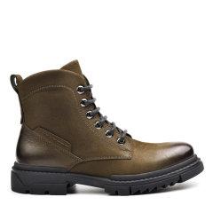 Sze/Sze 牛皮 休闲马丁靴 战靴男士工装短靴 X02M3901毛里图片
