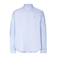 Kenzo 高田贤三 男士 服装 浅蓝色虎头刺绣衬衫 男士长袖衬衫图片