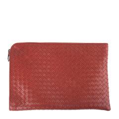 Bottega Veneta/葆蝶家 男士棕红色编织牛皮拉链开合手拿包手包腕包男包 224052-V4651 多色可选图片