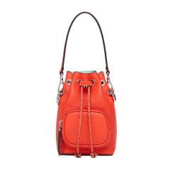 FENDI/芬迪 女士橙红色牛皮抽绳设计单肩包斜挎包手提包水桶包女包 8BS029 多色可选图片