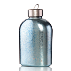 英国TAIC钛度大容量金属钛合金超轻户外便携随身扁酒瓶纯钛运动壶纯钛水杯图片