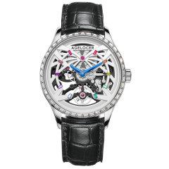 AGELOCER/艾戈勒手表黑森林系列男士手表男款镶钻镂空机械表新款时尚潮流机械手表图片