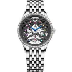 AGELOCER/艾戈勒手表黑森林系列女士手表女款镶钻镂空机械表新款时尚潮流机械手表图片