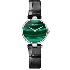 AGELOCER/艾戈勒手表布达佩斯系列女士手表女款合成孔雀石石英表新款时尚百搭圆形小绿表图片