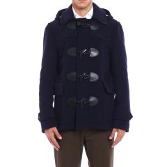 BURBERRY/博柏利 男士短款羊毛牛角纽扣大衣图片
