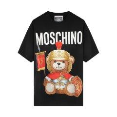 【包税】MOSCHINO/莫斯奇诺女士时尚罗马熊印花圆领短袖T恤EV07035540图片