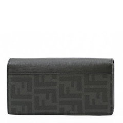 FENDI/芬迪 男士拼色PVC配皮经典双F印花长款钱包手包手拿包男包 7M0186-X4U 多色可选图片