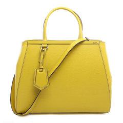 FENDI/芬迪 REGULAR 2JOURS系列女士纯色吊饰按扣开合购物包手提包单肩包斜挎包女包 8BH250-D7E 多色可选图片