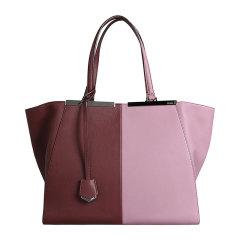 FENDI/芬迪 女士拼色牛皮磁扣开合手提包单肩包托特包购物包女包 8BH272-N5T 多色可选图片